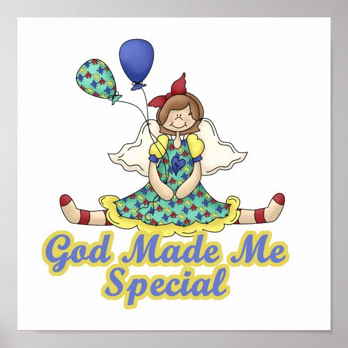 God Made Me Special Autism Awareness Poster