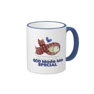 God Made Me Special Autism Fish Symbol Coffee Mug