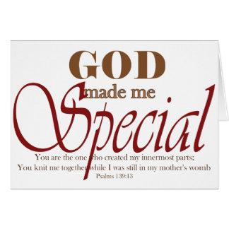 God Made Me Special Card