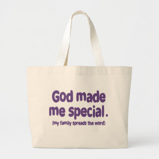 God Made me Special Large Tote Bag