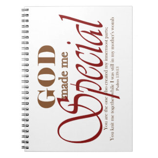 God Made Me Special Note Books