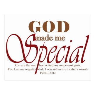 God Made Me Special Postcard
