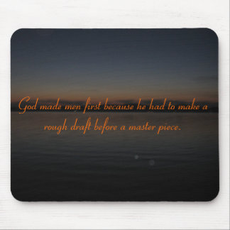 God Made Men First Mouse Pad