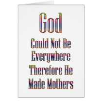 God made Mothers card (white)
