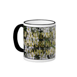 God made Mothers on flowers mug