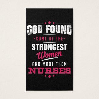 God Made Nurses Hilarious Profession Design Business Card