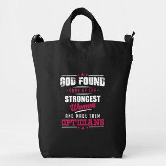 God Made Opticians Hilarious Profession Design Duck Bag