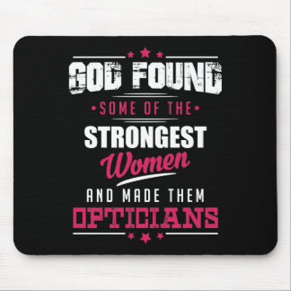 God Made Opticians Hilarious Profession Design Mouse Pad