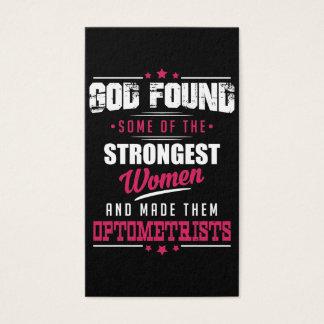 God Made Optometrists Hilarious Profession Design Business Card