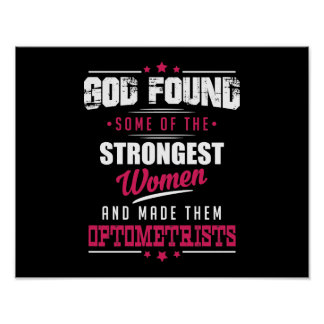 God Made Optometrists Hilarious Profession Design Poster