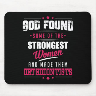 God Made Orthodontists Hilarious Profession Design Mouse Pad