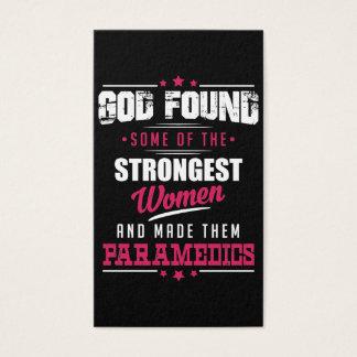 God Made Paramedics Hilarious Profession Design Business Card