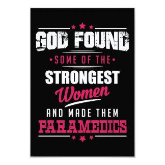 God Made Paramedics Hilarious Profession Design Card