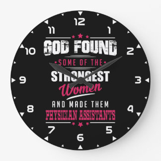 God Made Physician Assistants Hilarious Profession Large Clock