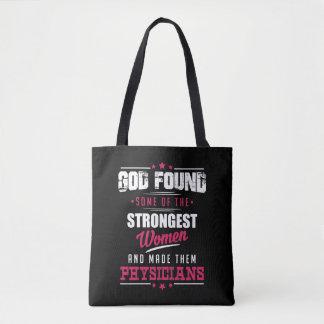 God Made Physicians Hilarious Profession Design Tote Bag