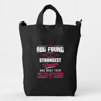God Made Police Officers Hilarious Profession Dsgn Duck Bag