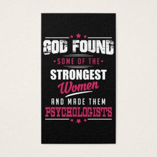 God Made Psychologists Hilarious Profession Design Business Card