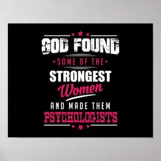 God Made Psychologists Hilarious Profession Design Poster