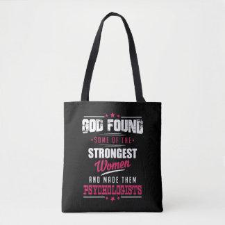 God Made Psychologists Hilarious Profession Design Tote Bag