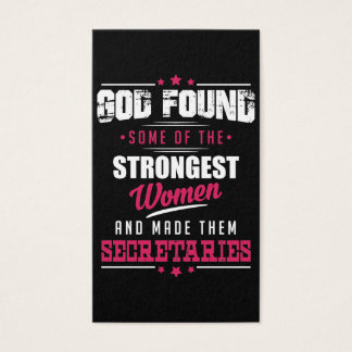 God Made Secretaries Hilarious Profession Design Business Card