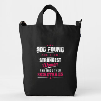 God Made Secretaries Hilarious Profession Design Duck Bag