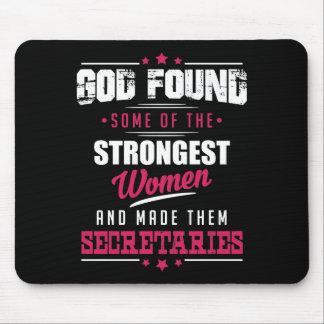 God Made Secretaries Hilarious Profession Design Mouse Pad