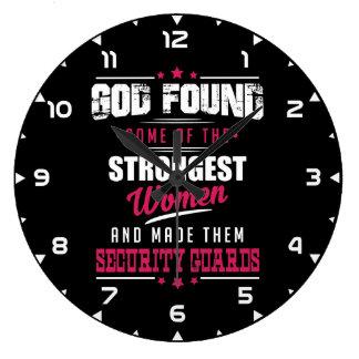 God Made Security Guards Hilarious Profession Dsgn Large Clock