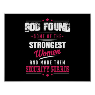 God Made Security Guards Hilarious Profession Dsgn Poster