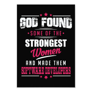 God Made Software Developers Hilarious Profession Card