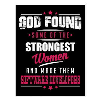 God Made Software Developers Hilarious Profession Postcard