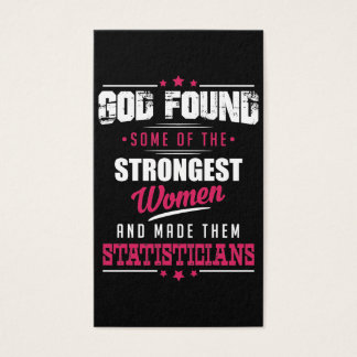 God Made Statisticians Hilarious Profession Design Business Card