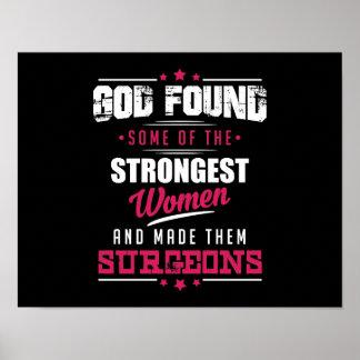 God Made Surgeons Hilarious Profession Design Poster