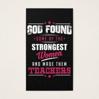 God Made Teachers Hilarious Profession Design Business Card