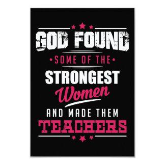 God Made Teachers Hilarious Profession Design Card