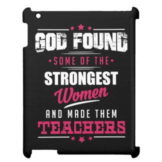 God Made Teachers Hilarious Profession Design iPad Cases