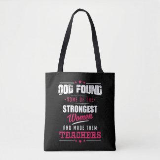 God Made Teachers Hilarious Profession Design Tote Bag