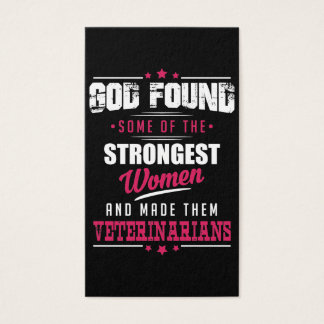 God Made Veterinarians Hilarious Profession Design Business Card