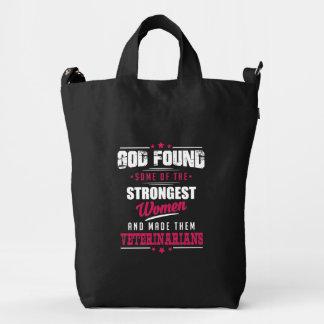 God Made Veterinarians Hilarious Profession Design Duck Bag