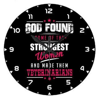 God Made Veterinarians Hilarious Profession Design Large Clock