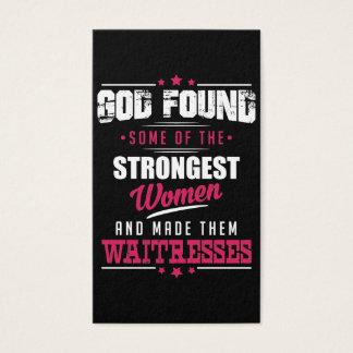 God Made Waitresses Hilarious Profession Design Business Card