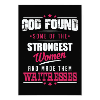 God Made Waitresses Hilarious Profession Design Card