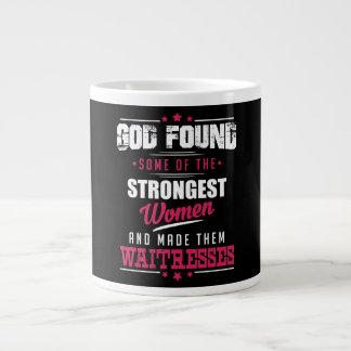 God Made Waitresses Hilarious Profession Design Giant Coffee Mug