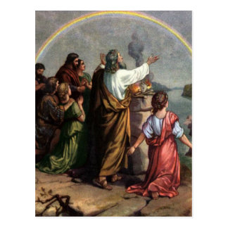 God Makes a Promise to Noah Postcard