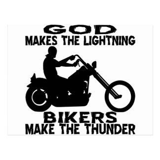 God Makes The Lightning Bikers Make The Thunder Postcard