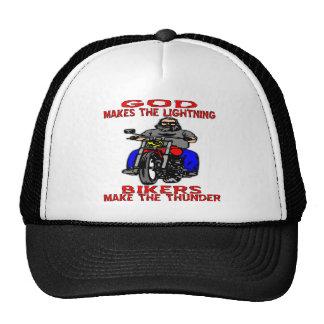God Makes The Lightning Bikers Make The Thunder Trucker Hat
