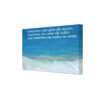 God Makes Us Swim Wrapped Canvas