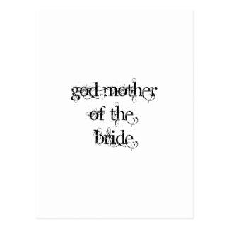 God Mother of the Bride Postcard