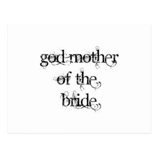 God Mother of the Bride Postcards