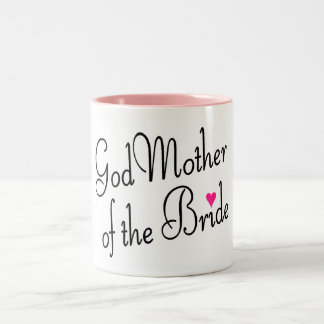 God Mother Of The Bride Two-Tone Coffee Mug