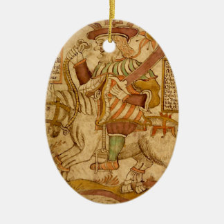 God Odin on his Eight-legged Horse Sleipnir - 3NBG Christmas Tree Ornament